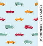 seamless pattern with paper... | Shutterstock .eps vector #111722576