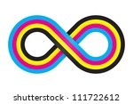 abstract cmyk infinity. vector... | Shutterstock .eps vector #111722612