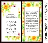 vintage delicate invitation... | Shutterstock .eps vector #1117239758