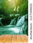 thi lo su waterfall or thee lor ... | Shutterstock . vector #1117240022