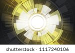 grey and white abstract... | Shutterstock .eps vector #1117240106
