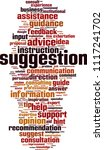 suggestion word cloud concept.... | Shutterstock .eps vector #1117241702