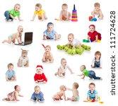 Set Of Crawling Babies Or...