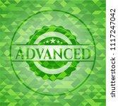 advanced green mosaic emblem | Shutterstock .eps vector #1117247042