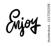 lettering inspirational poster... | Shutterstock .eps vector #1117252358