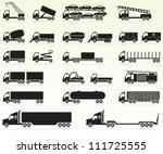 heavy vehicles | Shutterstock .eps vector #111725555