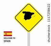 spain traffic signs board... | Shutterstock .eps vector #1117258622