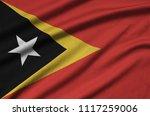 timor leste flag  is depicted...   Shutterstock . vector #1117259006
