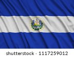 el salvador flag  is depicted...   Shutterstock . vector #1117259012