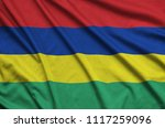 mauritius flag  is depicted on...   Shutterstock . vector #1117259096