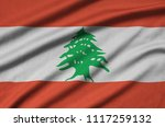 lebanon flag  is depicted on a...   Shutterstock . vector #1117259132