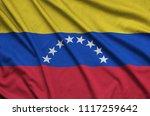 venezuela flag  is depicted on...   Shutterstock . vector #1117259642