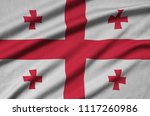georgia flag  is depicted on a...   Shutterstock . vector #1117260986