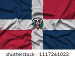 dominican republic flag  is...   Shutterstock . vector #1117261022