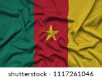 cameroon flag  is depicted on a ...   Shutterstock . vector #1117261046