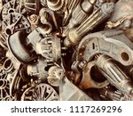 scrap engine car and machinery... | Shutterstock . vector #1117269296