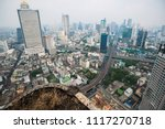 old ruin high rise building... | Shutterstock . vector #1117270718