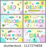 minimalistic business banners... | Shutterstock .eps vector #1117274858