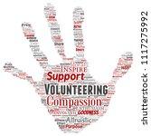 vector conceptual volunteering  ... | Shutterstock .eps vector #1117275992