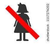 no girls sign. boys only label. ... | Shutterstock .eps vector #1117276202