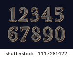 royal vintage numbers in... | Shutterstock .eps vector #1117281422