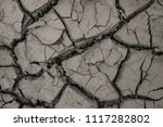 summer. dry land in the cracks. ... | Shutterstock . vector #1117282802