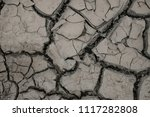 summer. dry land in the cracks. ... | Shutterstock . vector #1117282808