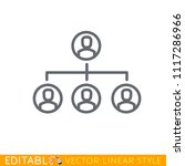 hierarchy of staff structure...   Shutterstock .eps vector #1117286966