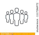 5 person team icon. editable...   Shutterstock .eps vector #1117286972