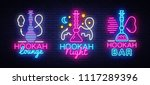 hookah neon signs collection...   Shutterstock .eps vector #1117289396