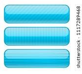 light blue oval buttons. blank... | Shutterstock . vector #1117289468