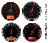 speedometers and tachometers.... | Shutterstock .eps vector #1117289765