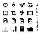 graphic design icons | Shutterstock .eps vector #111729146