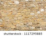 a sandstone brick wall as a... | Shutterstock . vector #1117295885