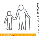 child with senior person icon....   Shutterstock .eps vector #1117296872