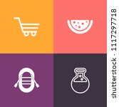 modern  simple vector icon set... | Shutterstock .eps vector #1117297718