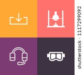 modern  simple vector icon set... | Shutterstock .eps vector #1117299092