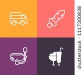 modern  simple vector icon set... | Shutterstock .eps vector #1117300838