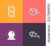 modern  simple vector icon set... | Shutterstock .eps vector #1117300952