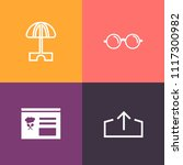 modern  simple vector icon set... | Shutterstock .eps vector #1117300982
