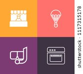 modern  simple vector icon set... | Shutterstock .eps vector #1117315178