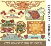 Vector Vintage Items  Label Art ...