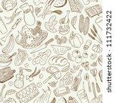 natural food  seamless... | Shutterstock .eps vector #111732422