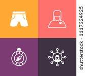 modern  simple vector icon set... | Shutterstock .eps vector #1117324925