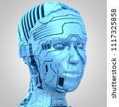 3d rendering  robotics and... | Shutterstock . vector #1117325858