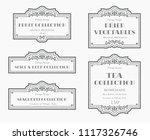 customizable black and white... | Shutterstock .eps vector #1117326746