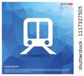 railroad track icon   free... | Shutterstock .eps vector #1117327505