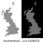vector rhombic dot great... | Shutterstock .eps vector #1117328522