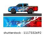 pick up truck and car decal... | Shutterstock .eps vector #1117332692