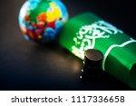 saudi arabia flag and oil... | Shutterstock . vector #1117336658